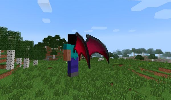 imagen donde vemos a un jugador de Minecraft volando en modo superviviencia, gracias a las alas que añade el mod the wings of alfheim 1.7.10.