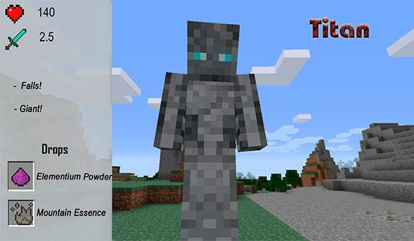 imagen de uno de los mobs más poderosos que añade el mod xtracraft 1.7.10.