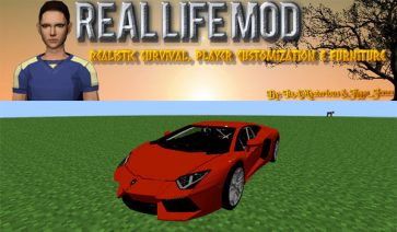 Real Life Mod para Minecraft 1.8