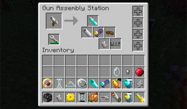 imagen de la gun assembly station, lugar donde se craftean las armas del mod spectral guns 1.8.