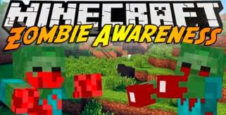 Zombie Awareness Mod para Minecraft 1.7.10 y 1.7.2