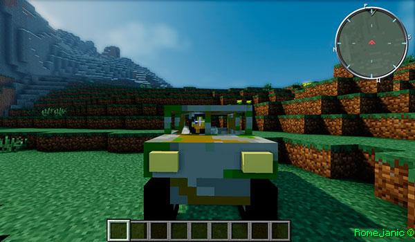 imagen donde vemos uno de los varios vehículos que añade el mod Battlefield 1.7.10.