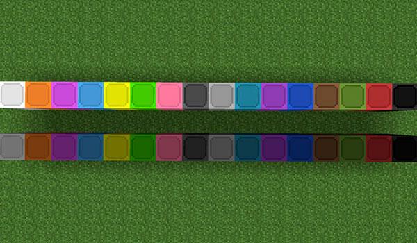 imagen donde podemos ver los bloques de iluminación con 16 colores distintos.