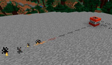 Placeable Gunpowder Mod para Minecraft 1.7.10