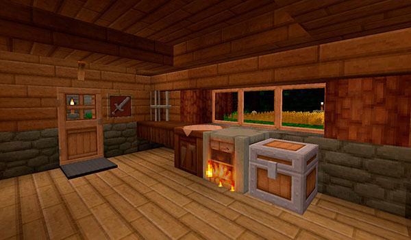 imagen donde vemos el interior de una vivienda decorada con el pack de texturas A Brush More Colour.