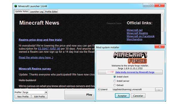Instalación de Mods en Minecraft
