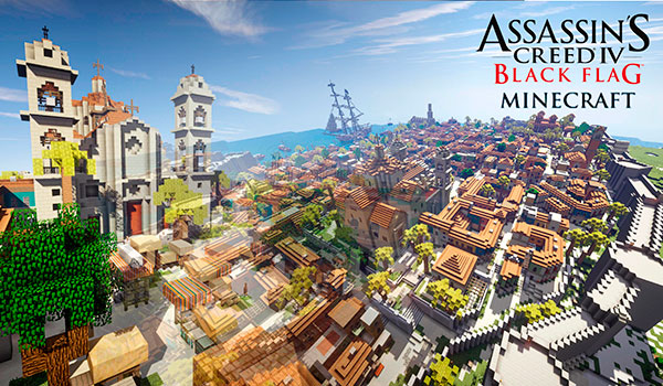 La Habana de Assassin's Creed IV, es recreada en Minecraft.