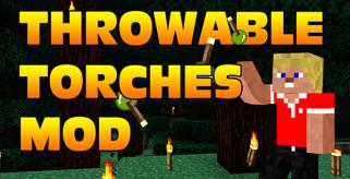 Throwable Torch Mod para Minecraft 1.8