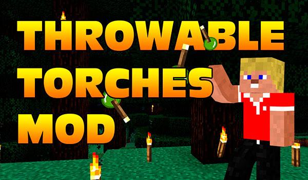 Throwable Torch Mod para Minecraft 1.8 y 1.8.9