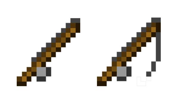 Cómo hacer una caña de pescar en Minecraft