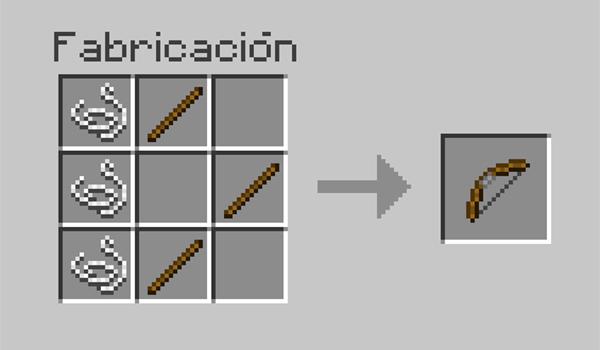 imagen donde vemos cómo debemos colocar los diversos materiales para poder crear un arco en Minecraft.