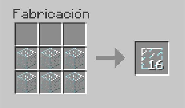 imagen donde vemos la receta que debemos seguir para convertir el cristal en paneles de cristal.