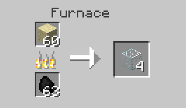 Para hacer vidrio o cristal en Minecraft debemos fundir arena en un horno.