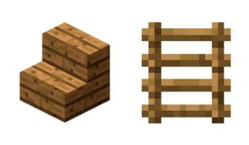 Cómo hacer escaleras en Minecraft