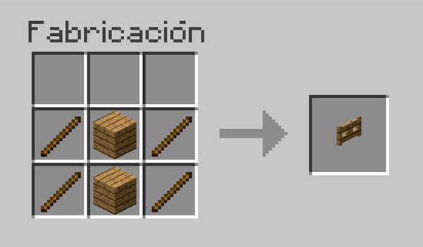 C mo hacer vallas en minecraft minecrafteo for Hacer una mesa con una puerta