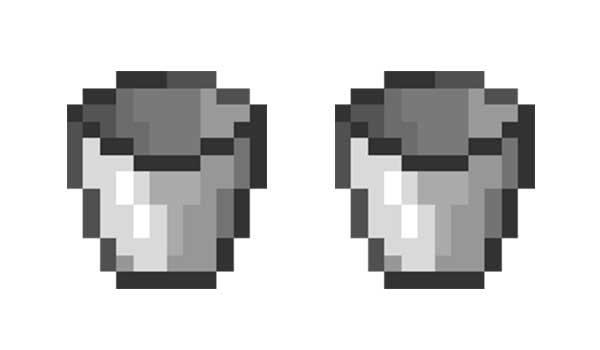 Balde o cubo Minecraft