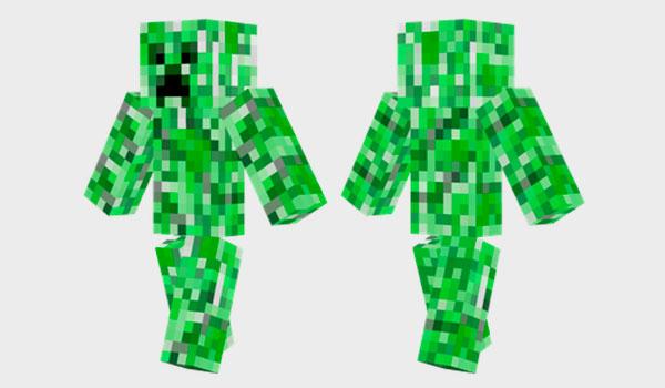 Creeper Skin Para Minecraft MineCrafteo - Skin para minecraft pe creeper