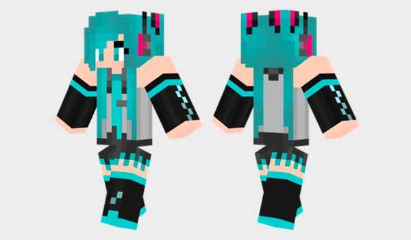 Hatsune Miku Skin Para Minecraft MineCrafteo - Skins para minecraft descargar gratis