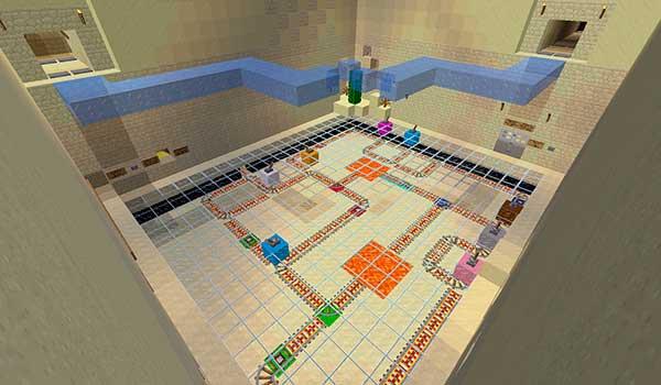 imagen aérea donde vemos uno de los puzzles que encontraremos en el mapa The Temple Master 1.11 y 1.10.