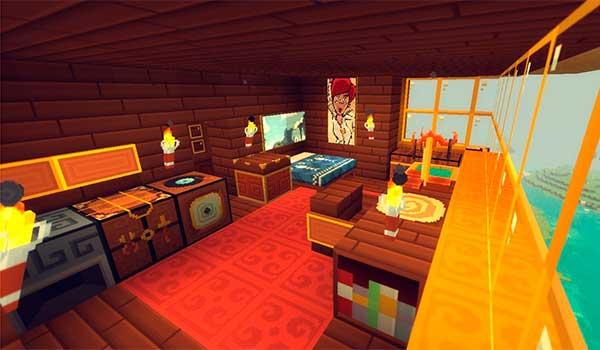 imagen donde vemos el interior de una vivienda, utilizando el paquete de texturas xaiwaker 1.10 y 1.9.
