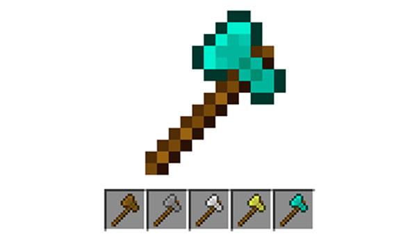 Cómo hacer un hacha en Minecraft