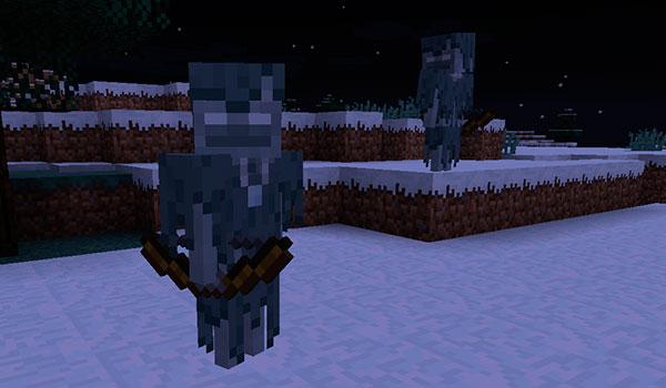 imagen donde vemos un nuevo tipo de esqueleto, con los ojos blanco y ropa.