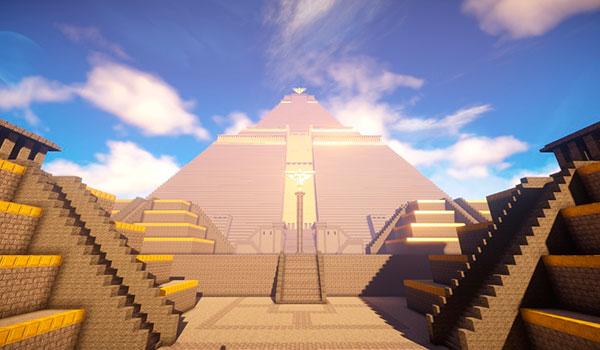 Recrean la pirámide de Meereen, de Juego de Tronos, en Minecraft.