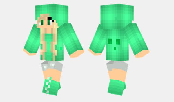 Slime Girl Skin para Minecraft