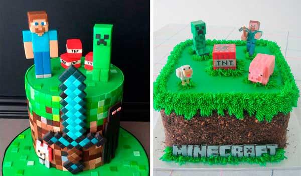 8 Tortas de Minecraft a las que desearías hincar el diente.