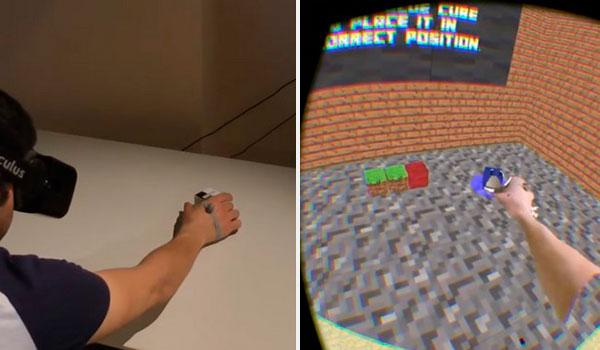 Microsoft crea un sistema para construir con un bloque real en Minecraft VR.