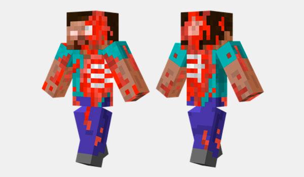 Steve Zombie Skin para Minecraft