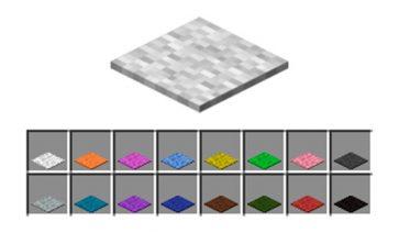 Cómo hacer alfombras en Minecraft