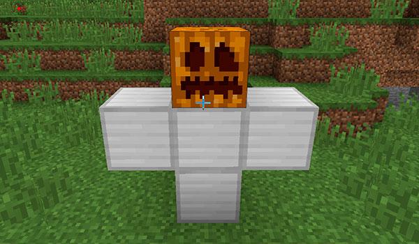 imagen donde vemos la estructura de bloques que debemos hacer para crear un Golem en Minecraft.