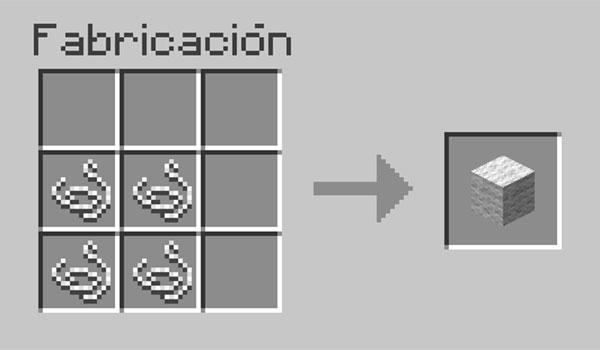 imagen donde vemos los materiales necesarios para crear lana en Minecraft.