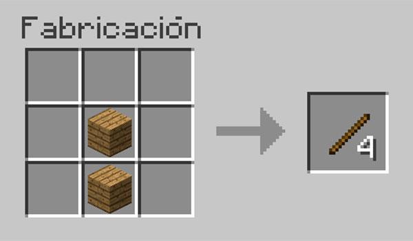 Cómo hacer palos en Minecraft