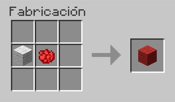 imagen donde vemos los materiales necesarios para hacer lana de colores en Minecraft.