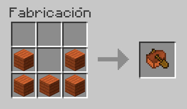 imagen donde vemos la forma correcta de colocar los materiales en la mesa de crafteo para hacer un bote o barco en Minecraft.