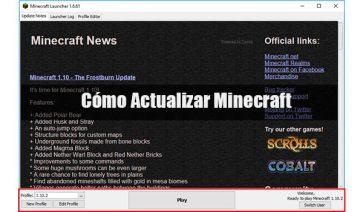 Actualizar Minecraft