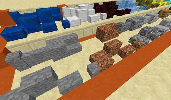 imagen donde vemos algunos ejemplos de los nuevos bloques decorativos que nos permite utilizar el mod building bricks 1.10 y 1.10.2.