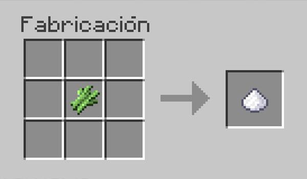 imagen donde vemos los materiales necesarios para poder hacer azúcar en el juego.
