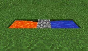 Generador de roca en Minecraft