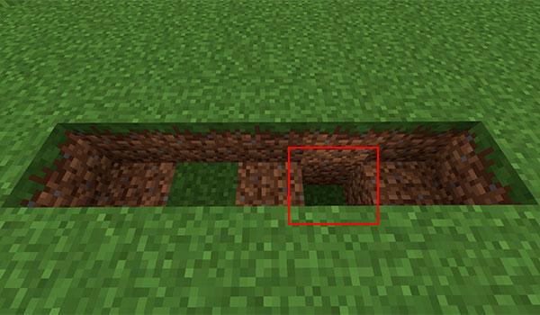 imagen donde vemos la estructura que debe de tener el generador de roca en Minecraft.