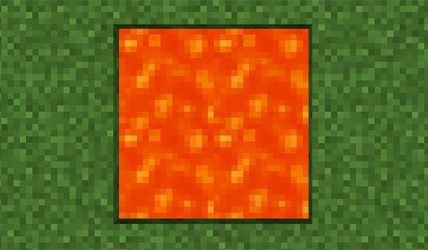 Lava infinita en Minecraft