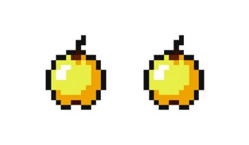 Manzana dorada en Minecraft