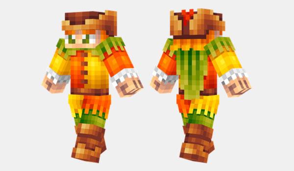 Medieval Piper Skin para Minecraft