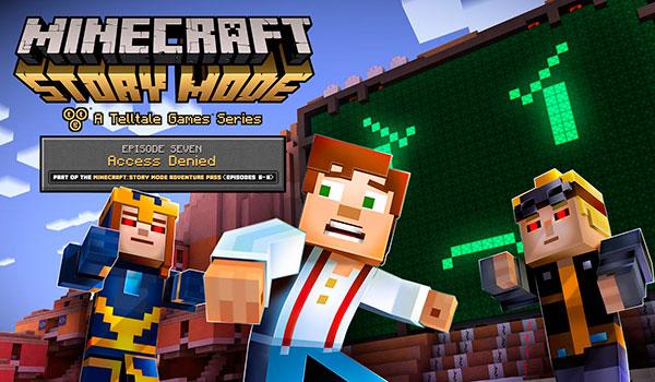Trailer y fecha de lanzamiento del séptimo episodio de Minecraft: Story Mode.