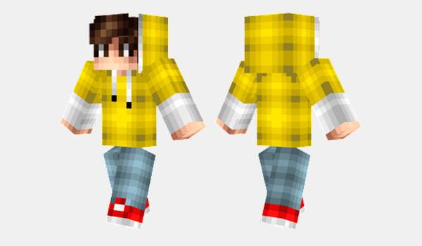 Yellow Hoodie Skin para Minecraft