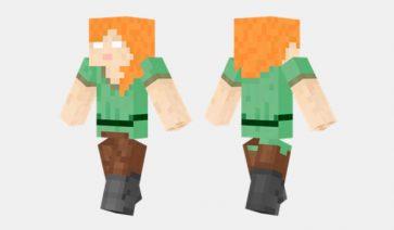 Herobrine Alex Skin para Minecraft
