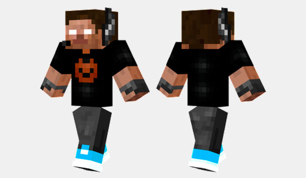 Herobrine Gamer Skin para Minecraft
