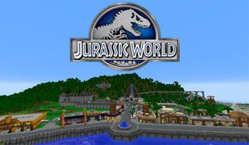 Jurassic World Map para Minecraft 1.10